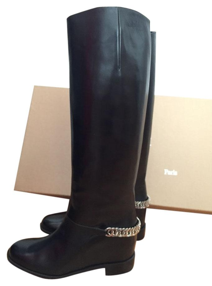 Christian Louboutin Black Cate Chain Riding Boots/Booties (M, Size US 6 Regular (M, Boots/Booties B) 125be8