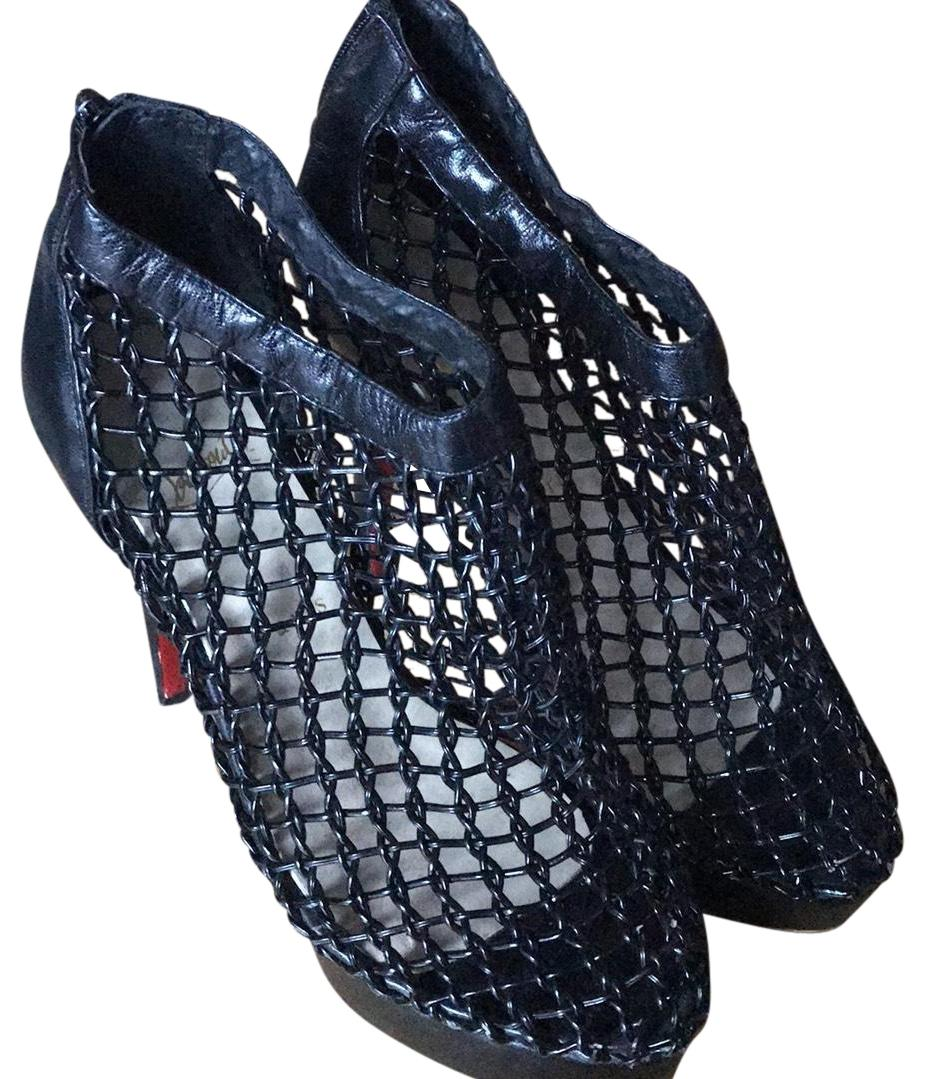 725c7cba42b9 clearance christian louboutin coussin caged ankle boots black cards ...