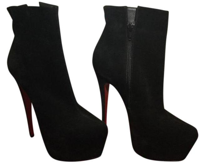 Christian Louboutin Black Fierce 160 Mm Suede Platform Boots/Booties Size US 6 Regular (M, B)