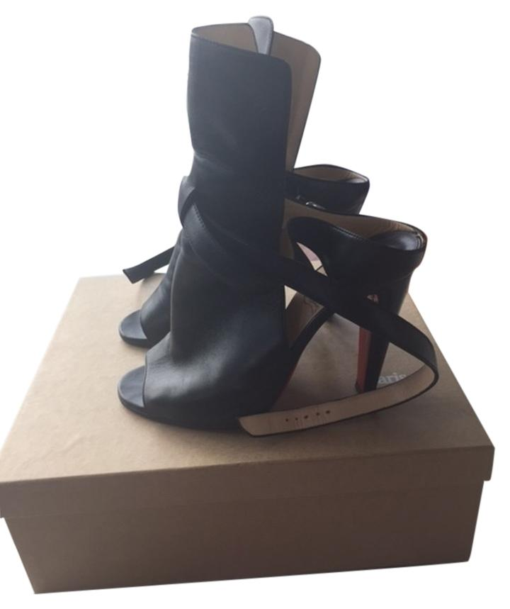 Christian Louboutin Black Hippik 100 Nappa Boots/Booties Size US 9