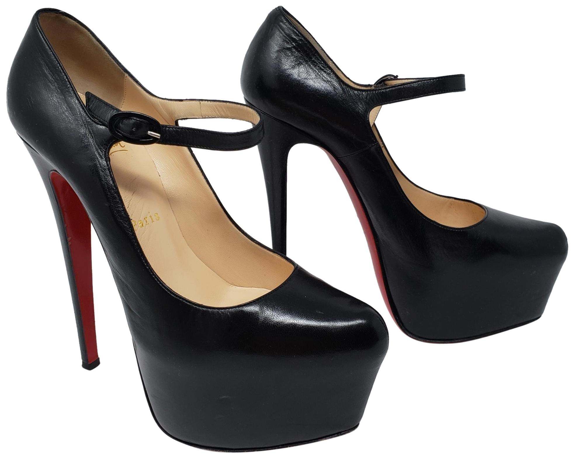 682ad779e17 ... norway christian louboutin ankle strap platform mary jane daffodile  lady daffodile black pumps 34b08 3abec