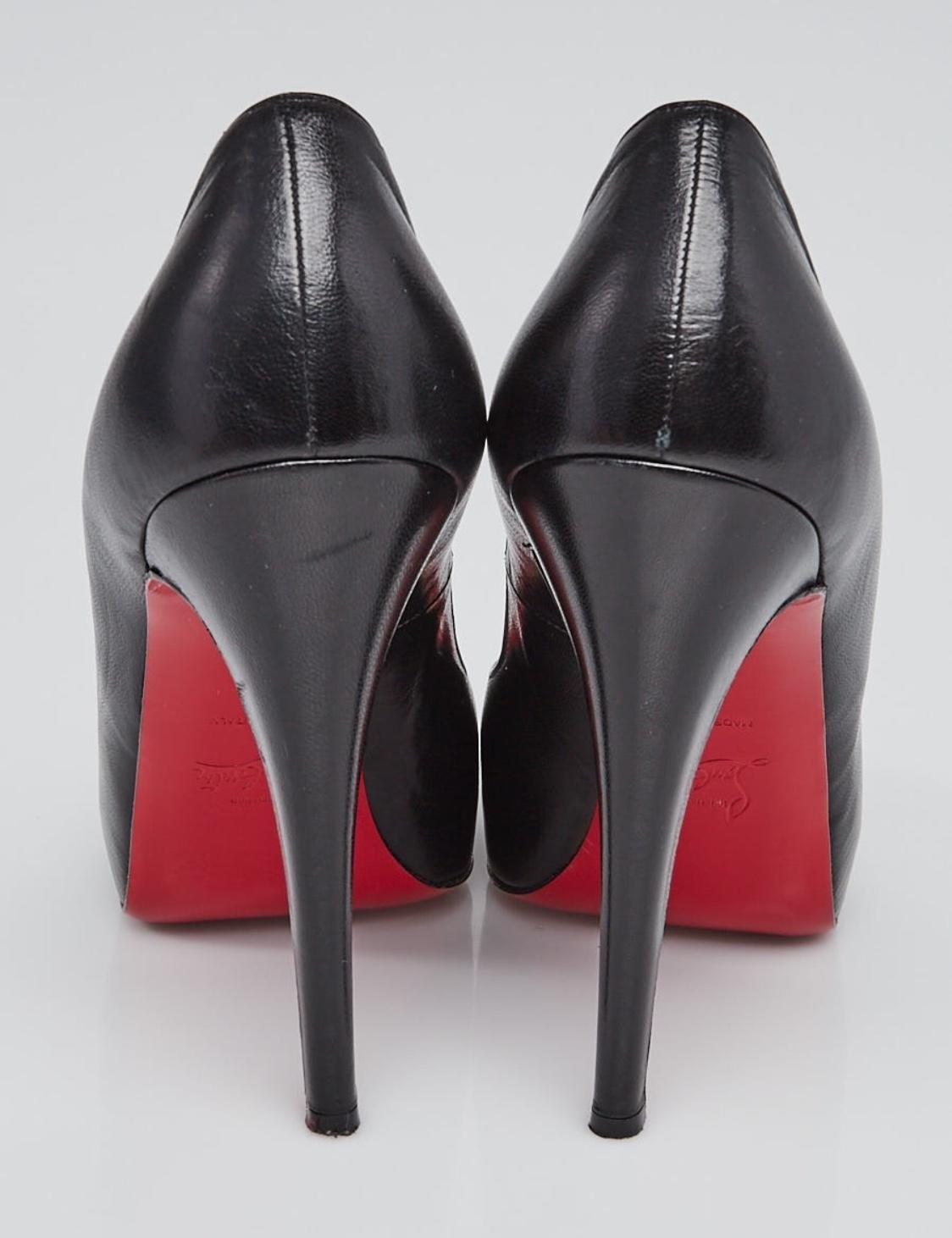 2c09a8c5f9e ... Christian Louboutin Black Leather Very Prive 120 9 Pumps Size Size Size  EU 40 (Approx