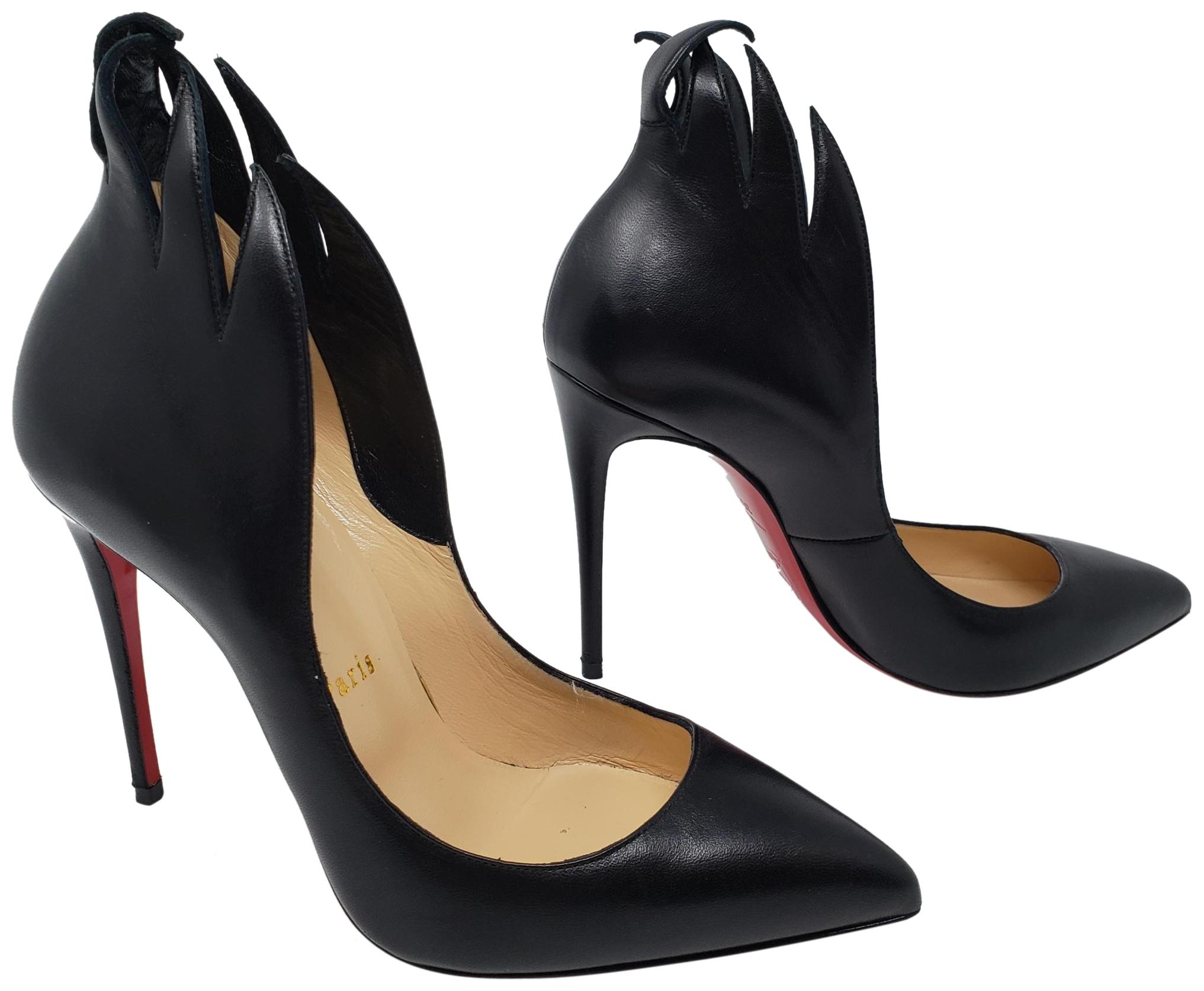 1b7ede105b08 Christian Louboutin Black Black Black Leather Victorina Flame Pointed-toe  Pumps Size EU 36.5 (Approx. US 6.5) Regular (M