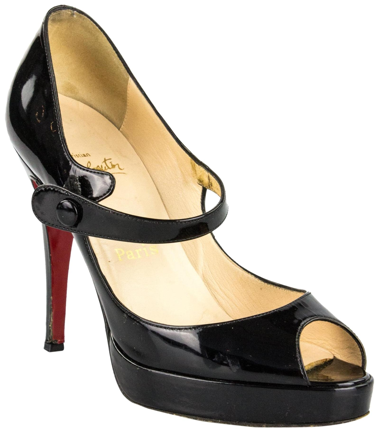 christian louboutin black mary janes