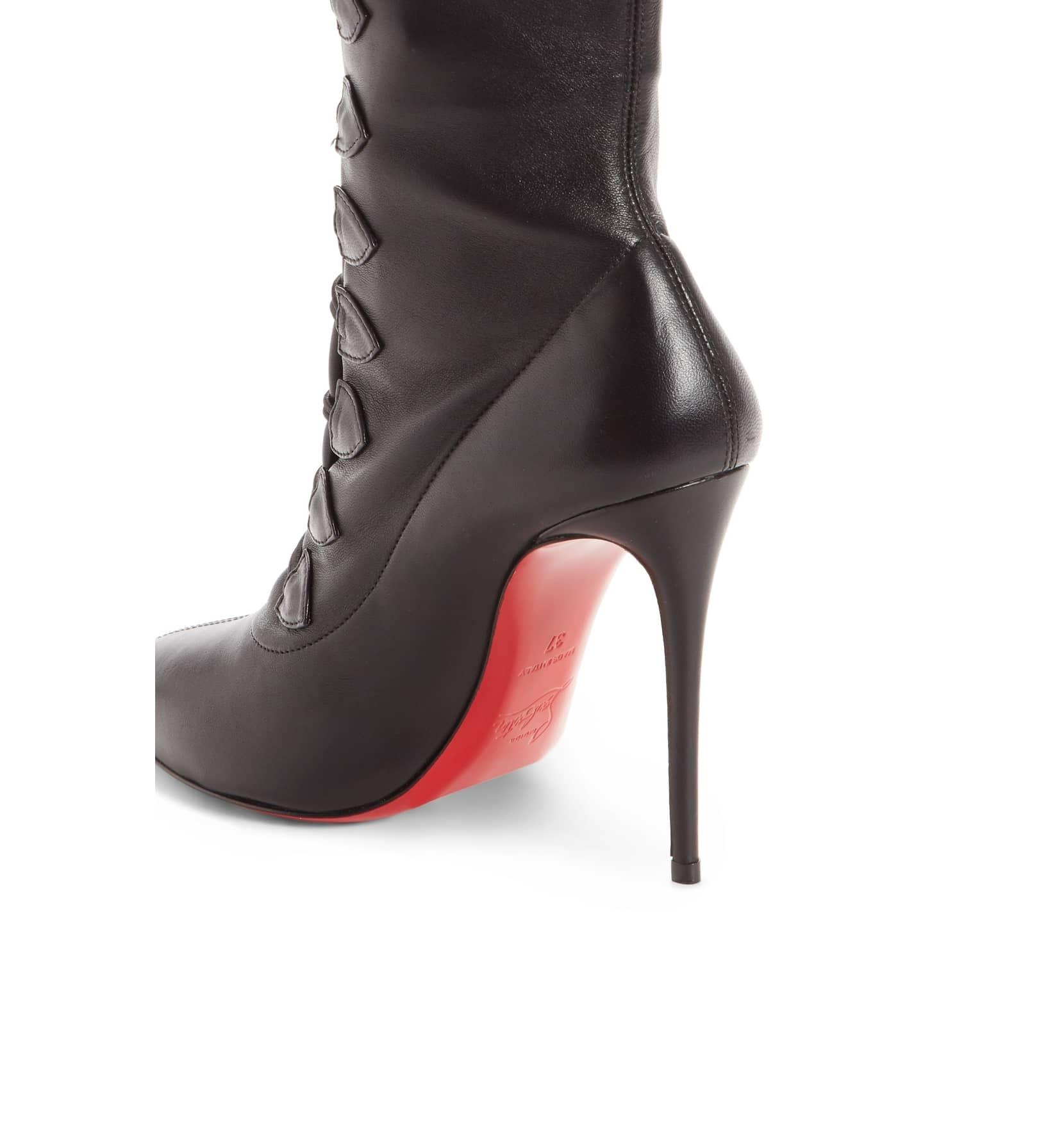 sale retailer feeef d4fe2 ... Christian Louboutin Black New French Tutu Pointy Pointy Pointy Toe 35  Boots Booties Size US ...