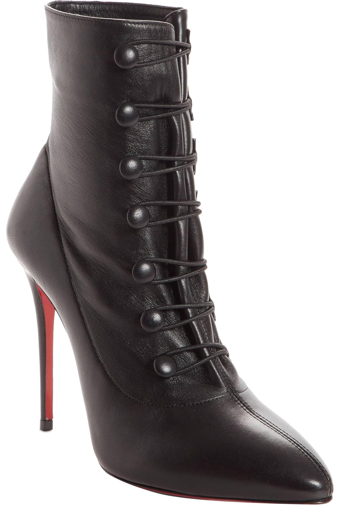 Christian Louboutin Black New French Tutu Pointy Toe 38 Boots/Booties Size US 8 Regular (M, B)