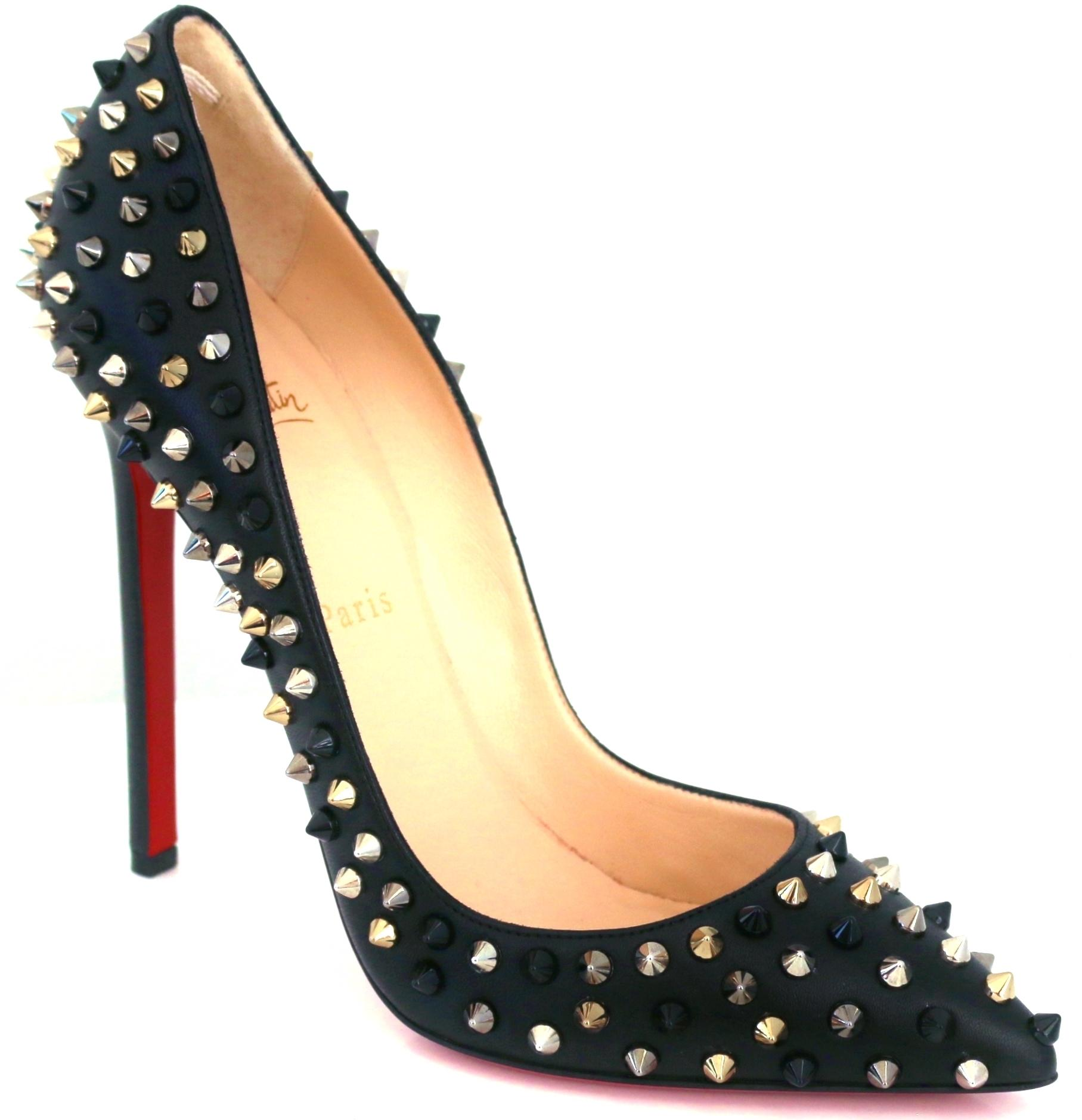 7b8825401c8e ... Christian Christian Christian Louboutin Black New Pigalle Spike 120 Mm  Spiked 38.5 Pumps Size US 8.5 ...