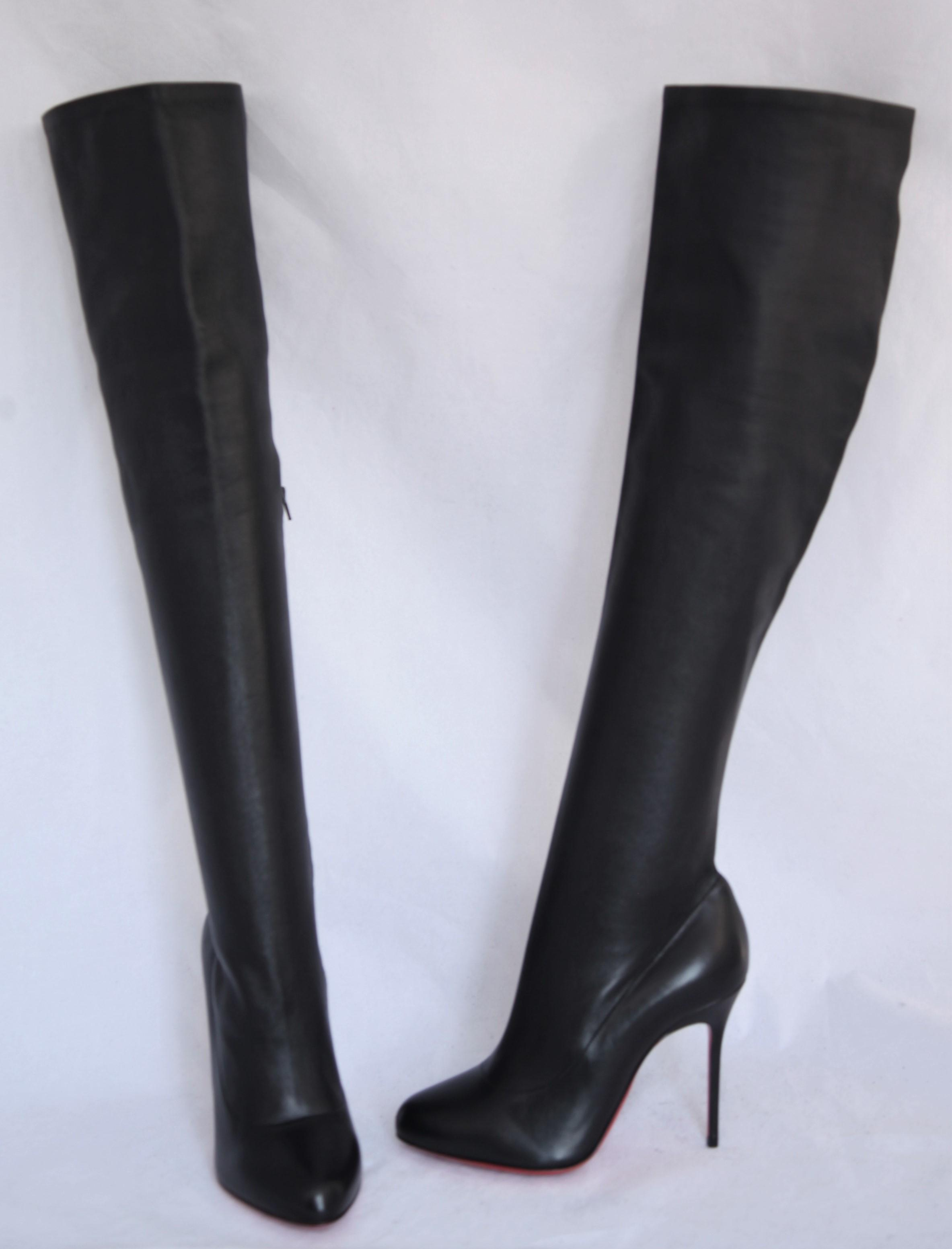 the best attitude 4f693 14c69 closeout christian louboutin monica thigh high boots heels ...
