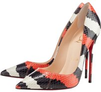 Christian Louboutin Black Orange White Ivory Snakeskin Python Leather Stiletto Pointed Toe So Kate So Kate Animal Animal Print Print 36 6 Red Pumps