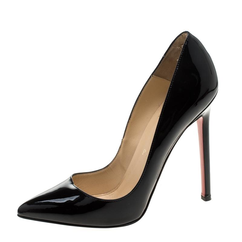 38e6603b7080 Christian Louboutin Black Patent Patent Patent Leather So Kate Pointed Pumps  Size EU 36 (Approx
