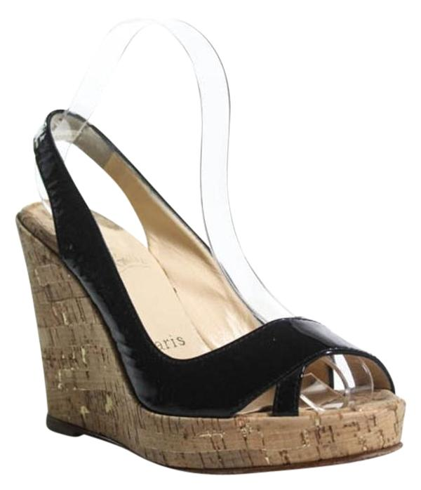Christian Louboutin Slingback Peep-Toe Wedges free shipping official site cheap sale discount choice cheap online 0cpsj