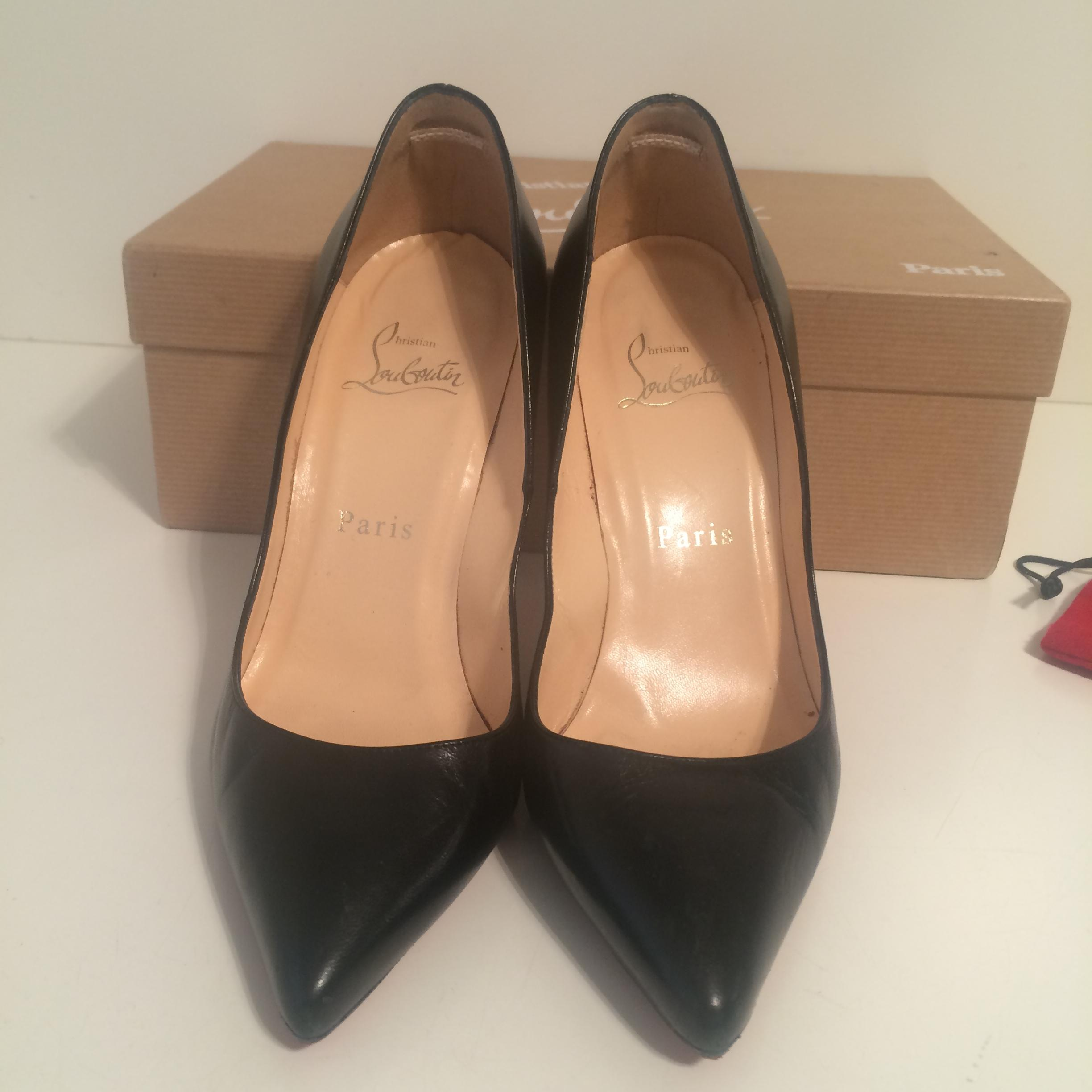 6fcf4738b31 ... Christian Louboutin Black Pigalle 100 Leather Leather Leather Eu 36 - 6 Pumps  Size US 5.5 ...