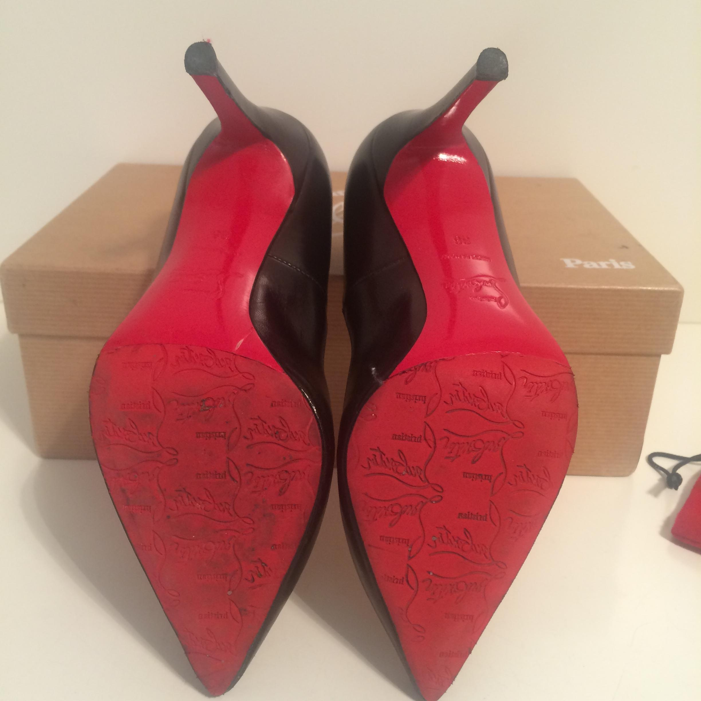 bfe62c48836 ... Christian Louboutin Black Pigalle 100 Leather Leather Leather Eu 36 - 6  Pumps Size US 5.5 ...