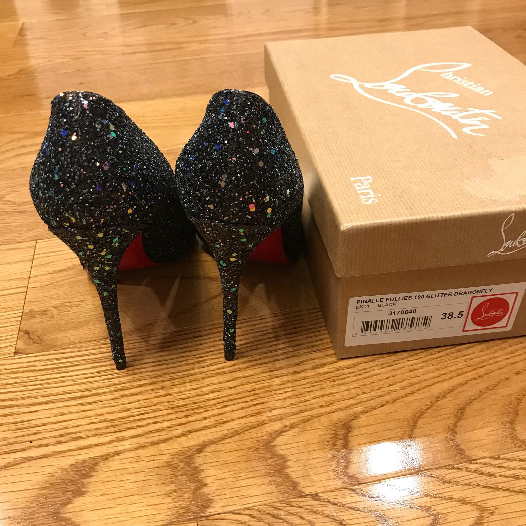 1af6924bf79 canada louboutin pigalle glitter flats pill 7301a 1a58b