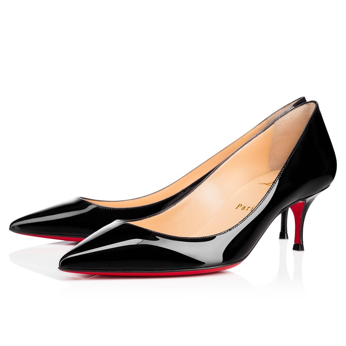 fa686338c9a8 Christian Louboutin Black Pigalle Pigalle Pigalle Follies 55 Patent Leather  Kitten Heel Pumps Size EU 36 (Approx. US 6) Regular (M