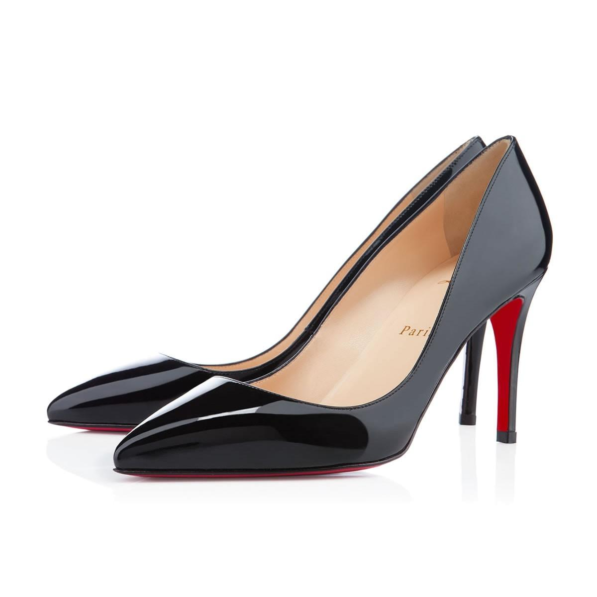 1249397566b Christian Christian Christian Louboutin Black Pigalle Follies Patent 85mm  Pumps Size EU 42 (Approx.