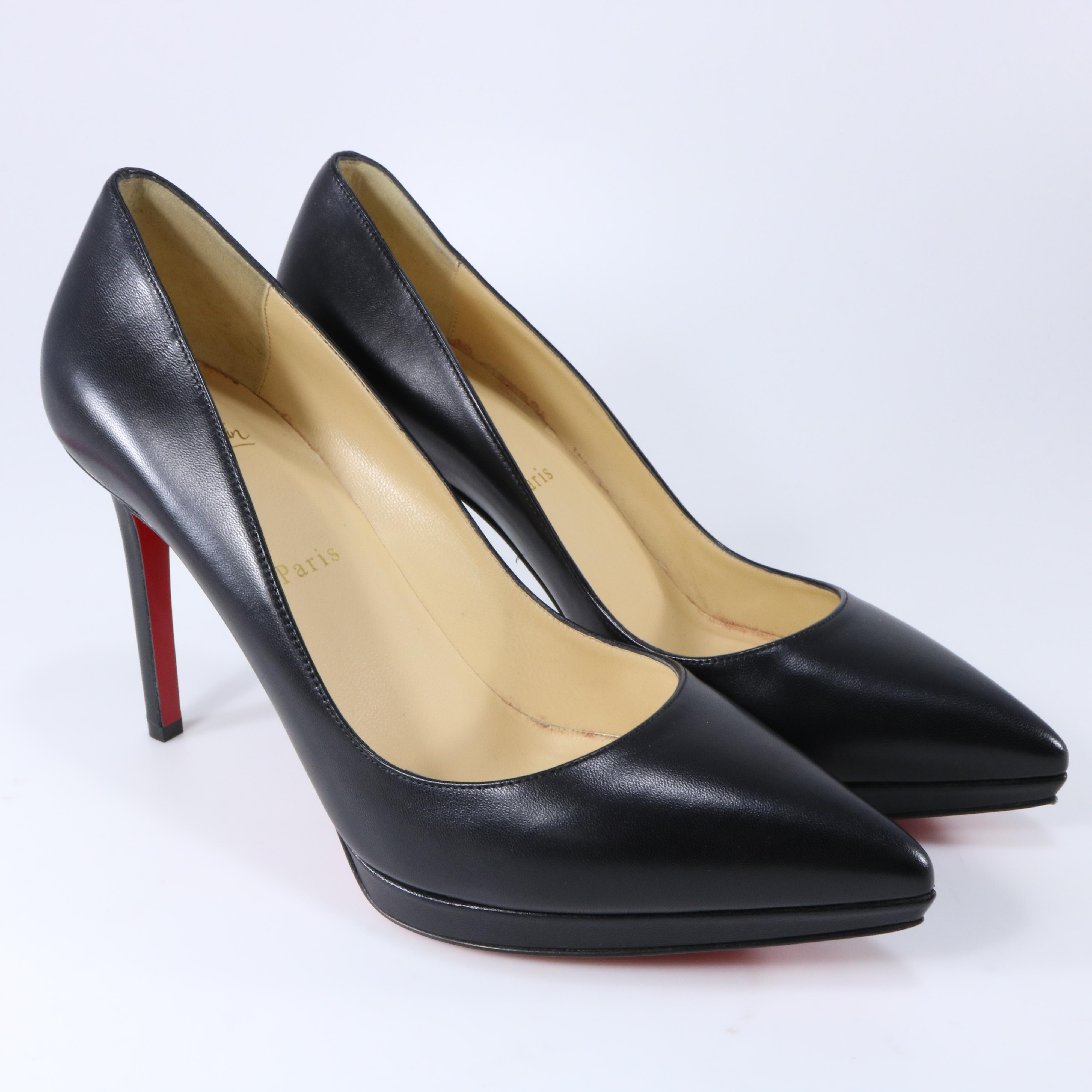 brand new 7c804 8424e Christian Louboutin Black Pigalle Pigalle Pigalle Plato ...