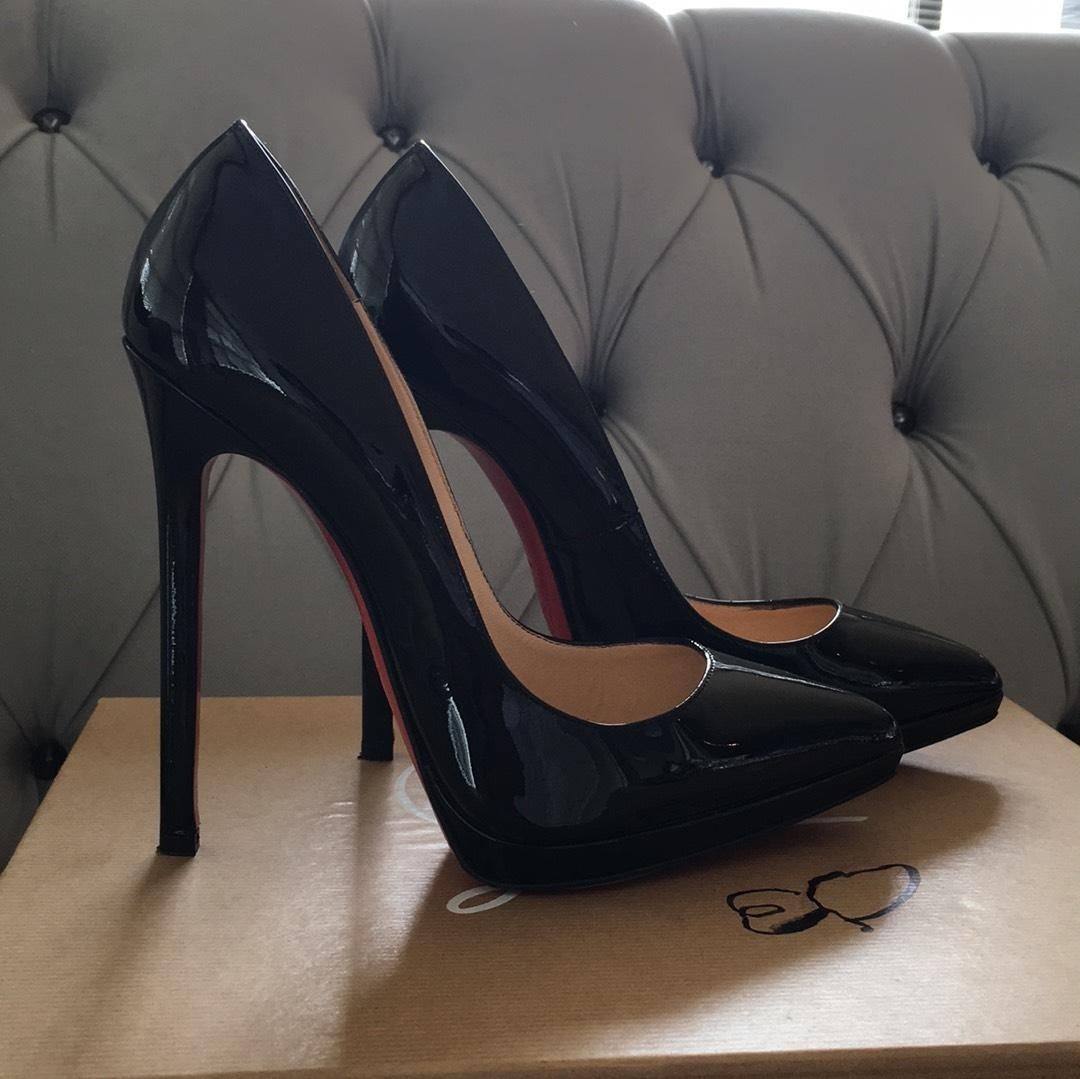 pretty nice 130ef 354a7 Christian Louboutin Black Pigalle Pigalle Pigalle Plato 140 ...