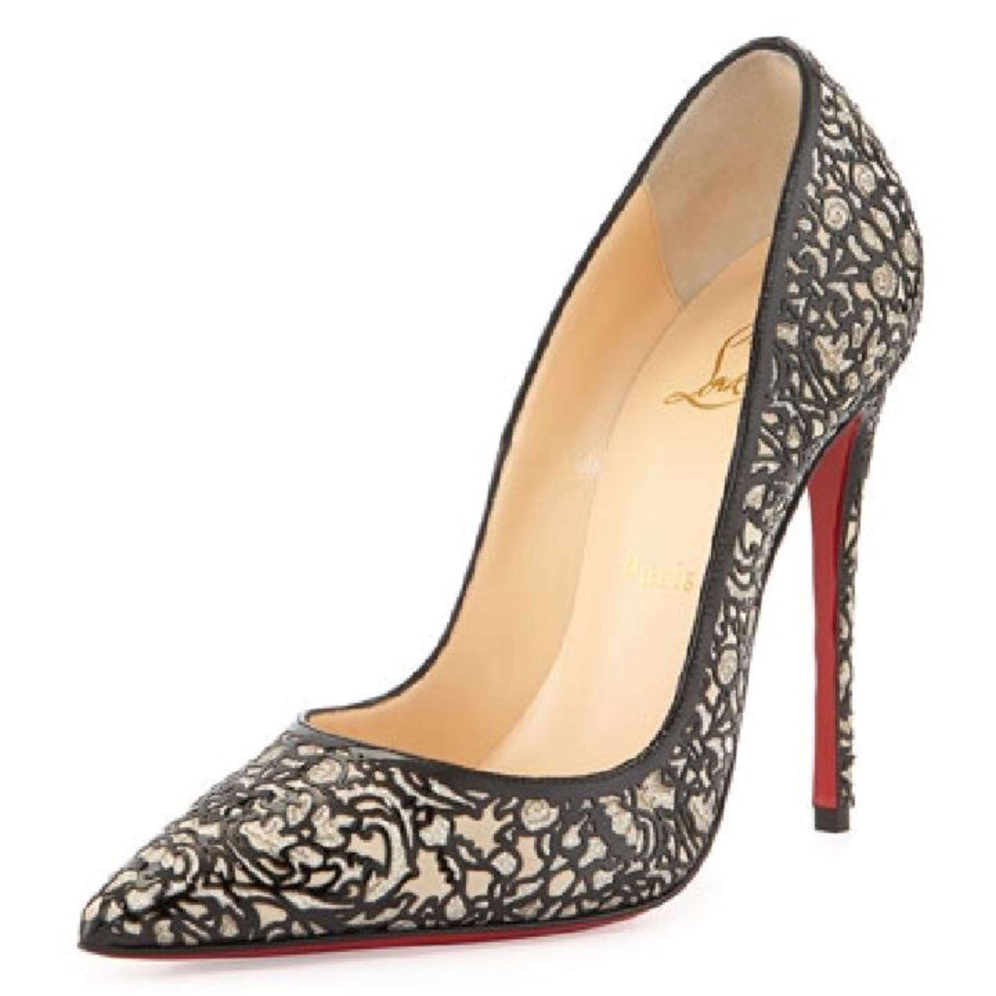 Christian Louboutin Patent Leather Cutout Pumps buy cheap 2015 new D2XviKtwg