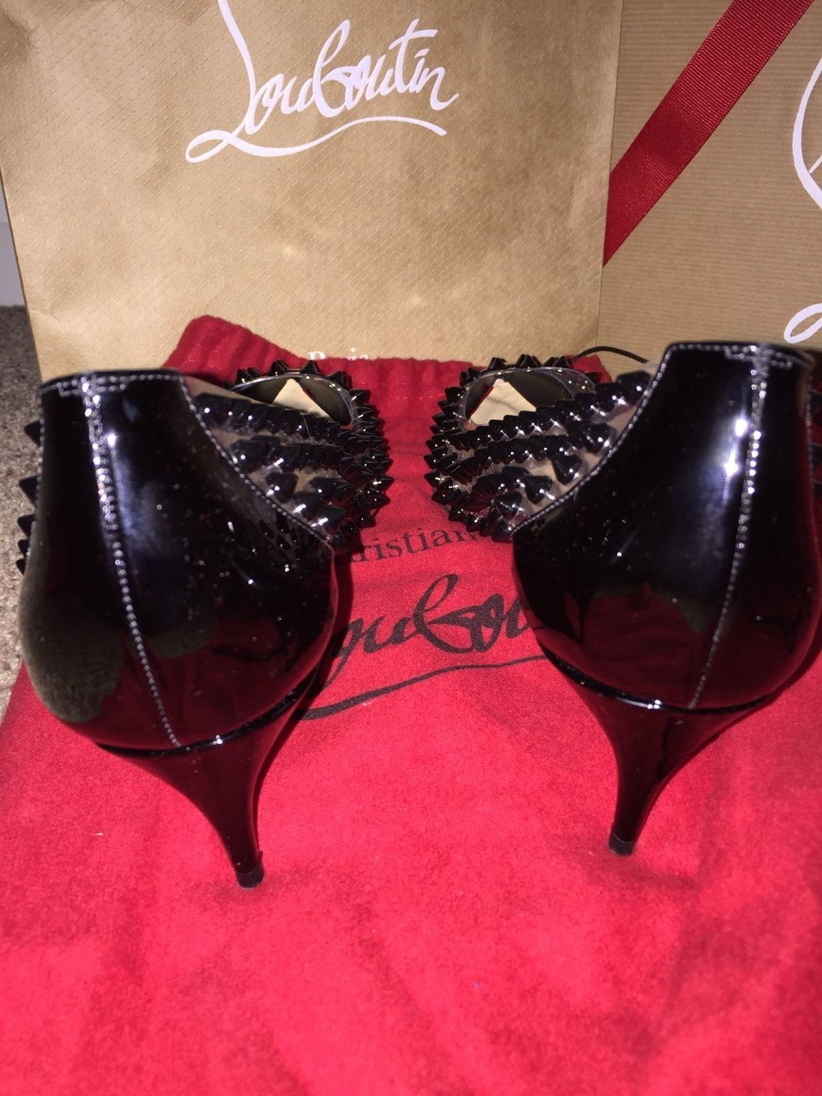 3e0a027e Christian Louboutin Louboutin Louboutin Black Spike Me 45mm Pumps ...