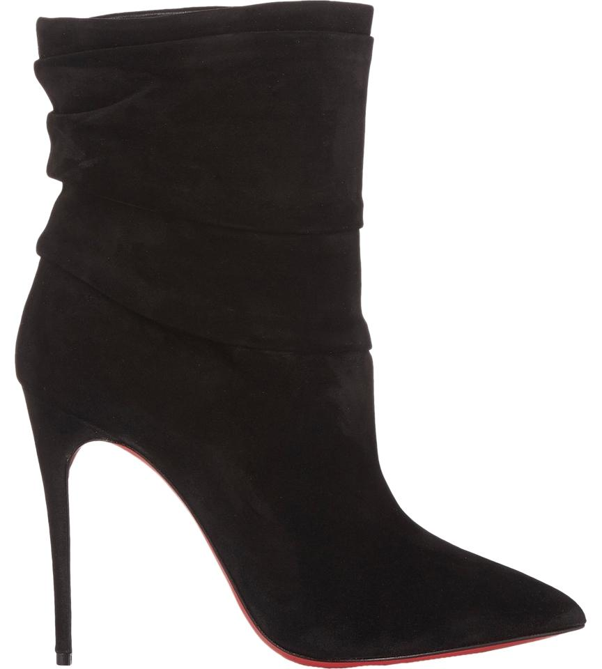 cheap prices authentic sale factory outlet Christian Louboutin Pointed-Toe Suede Booties P5oij