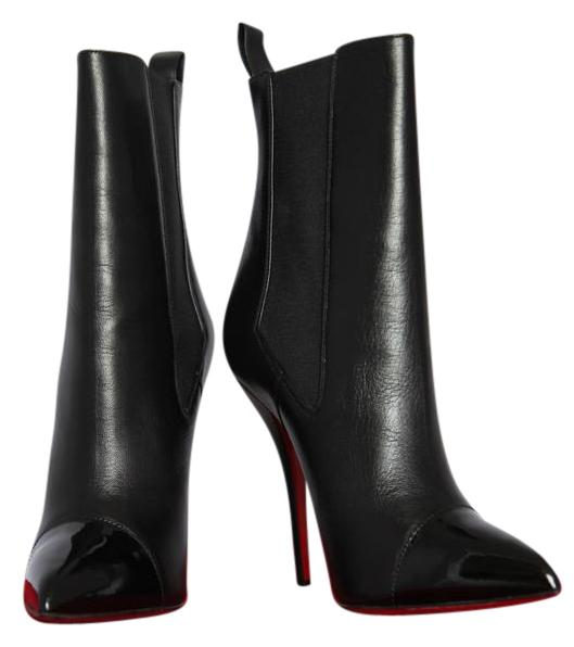 Christian Louboutin Black Tucson Nappa Ankle 120 Heel 36.5 Boots/Booties Size US 6.5 Regular (M, B)