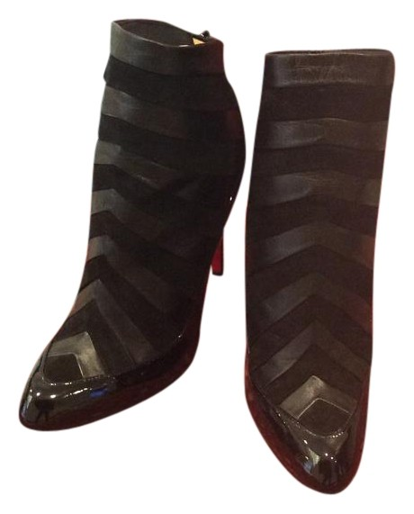 Christian Louboutin Black Women's Amor Patent-suede Boots/Booties Size US 9 Regular (M, B)
