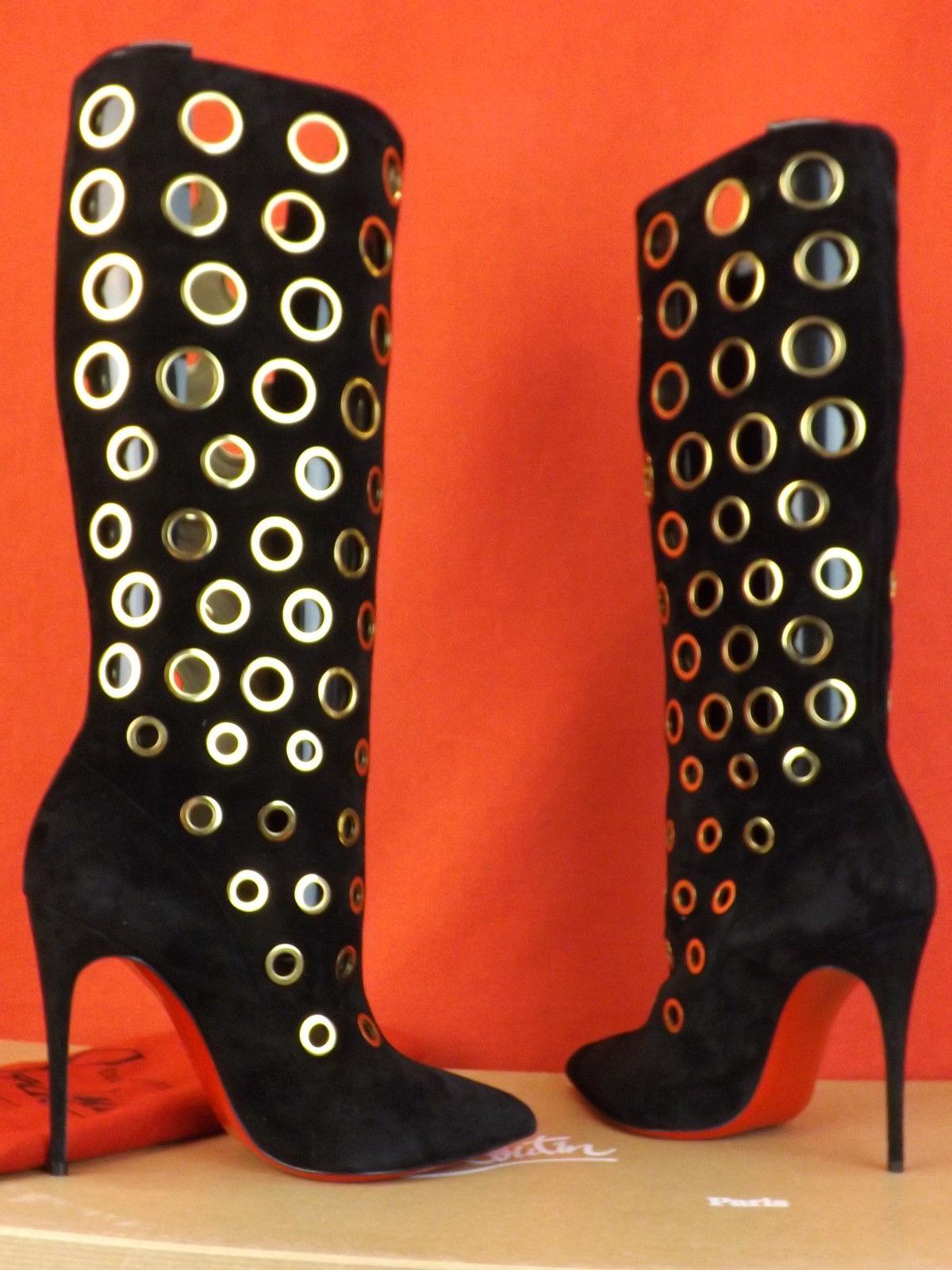 Black Boots Red sole