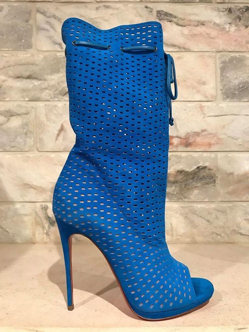 uk availability 9c93a 06318 Christian Louboutin Blue Jennifer Jennifer Jennifer 120 ...