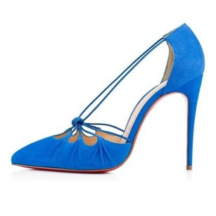 Christian Louboutin Riri Blue Pumps