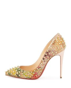 Christian Louboutin Cork Multi-Color Pumps