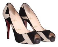 Christian Louboutin Black Multi-Color Pumps
