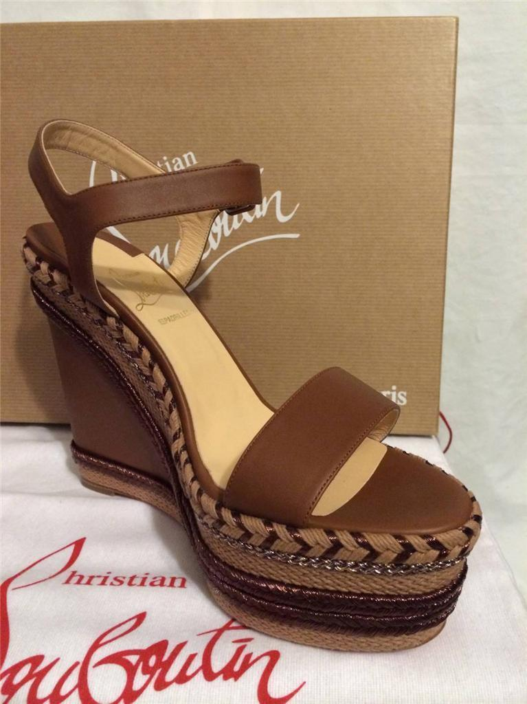 3abccb4a19f reduced christian louboutin rope wedge heel 8ec84 f219c
