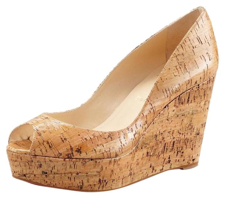 Christian Louboutin Cork Une Plume Coated Slide Size Wedge 40 M Sandals Size Slide US 10 Regular (M, B) c3a14b