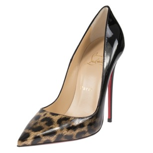 Christian Louboutin Follie Black/Leopard Pumps