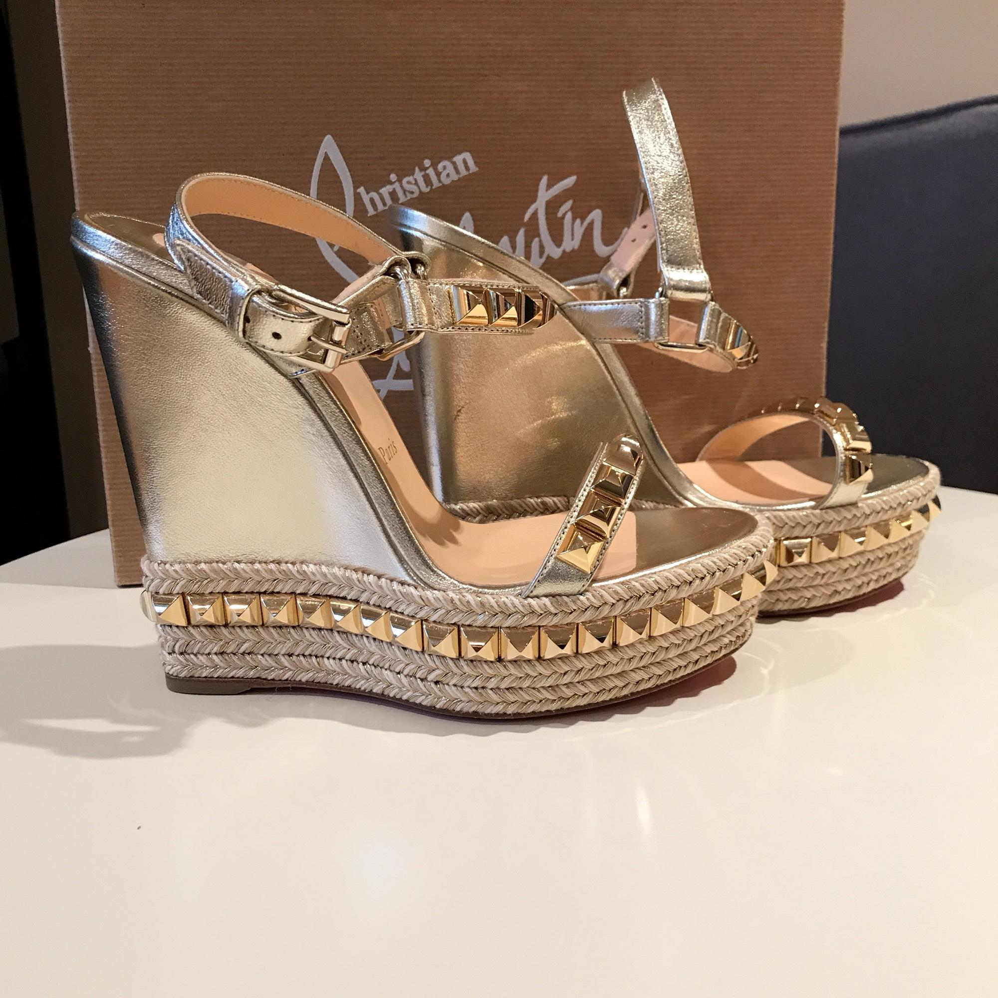 09404b9be9e where to buy louboutin wedges gold f85fa 2d303
