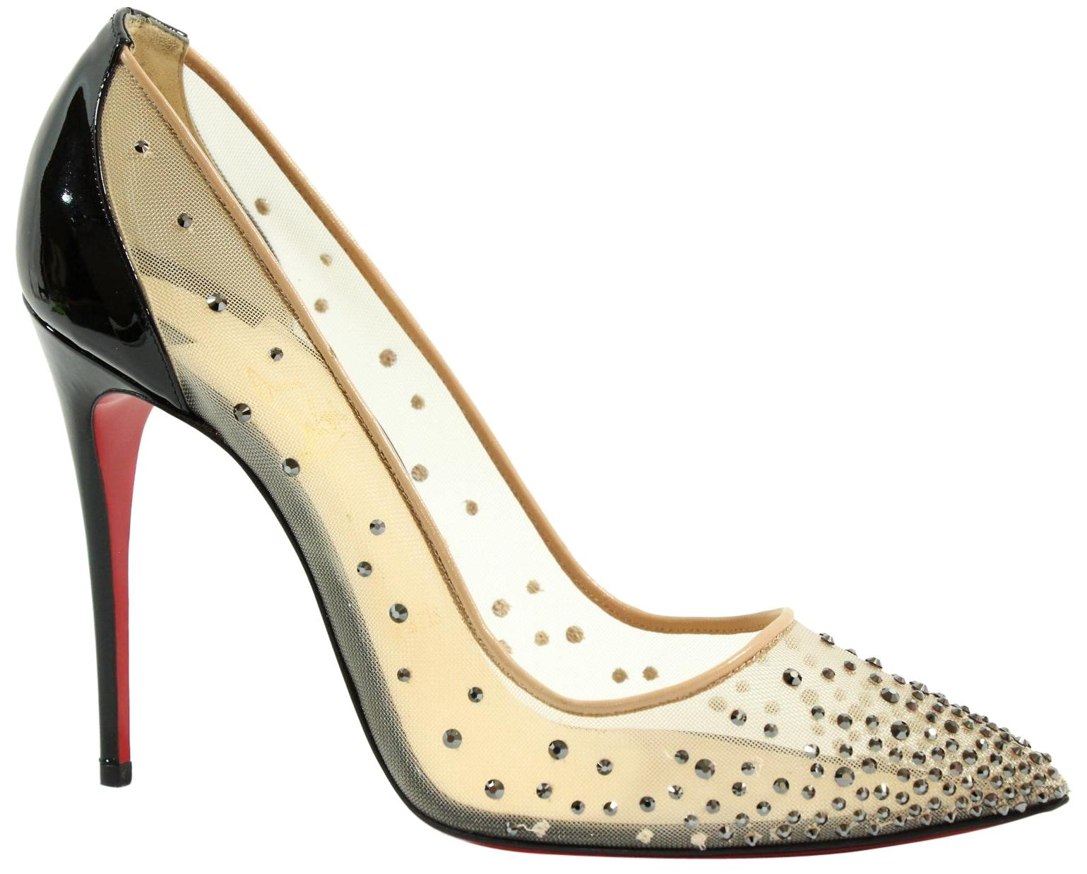 Christian Louboutin Gold Crystal-embellished Follies Strass Display Pumps Size US 9 Regular (M, B)