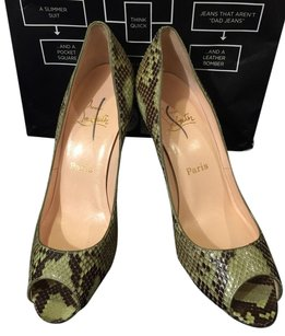Christian Louboutin Greens-Black Pumps