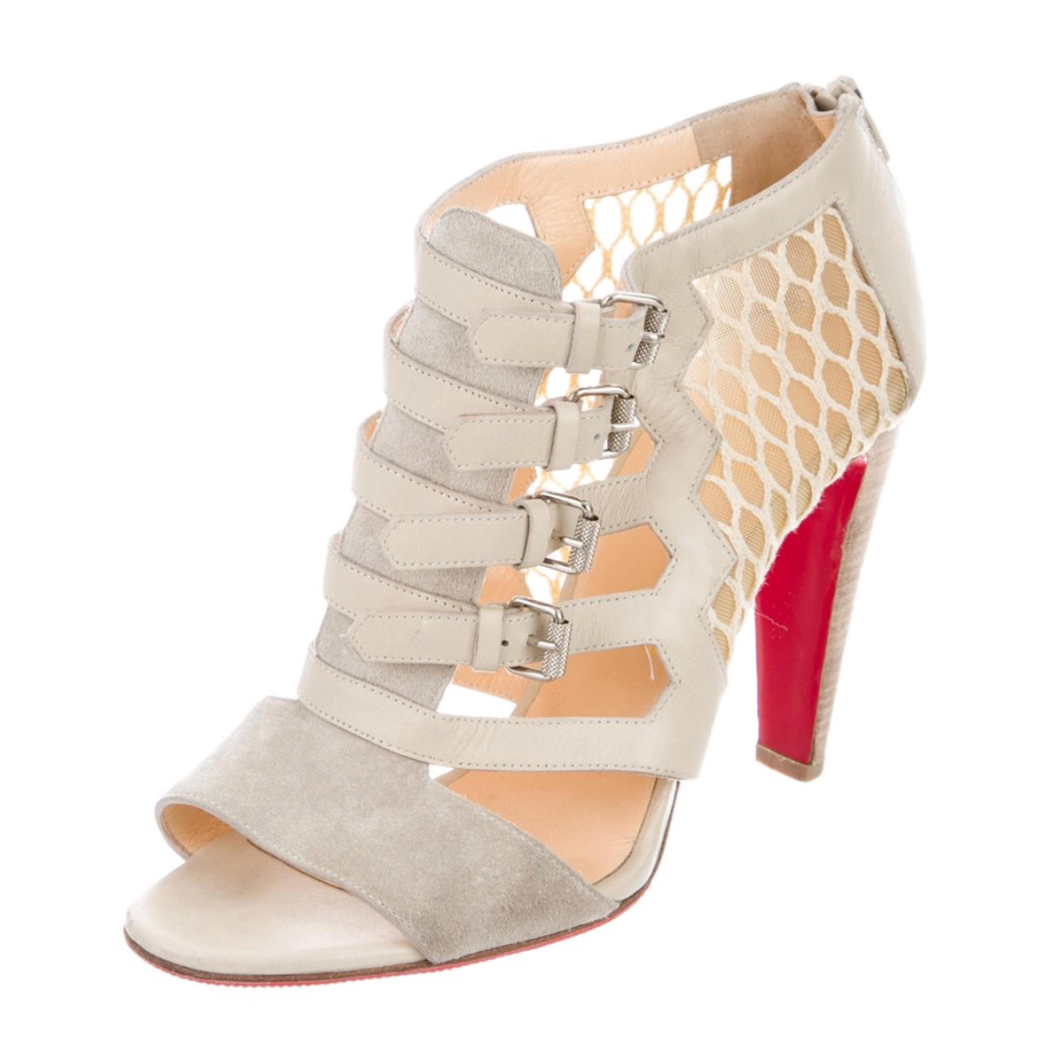 602749febe85a Christian Louboutin Grey Cage Sandals Pumps Size EU 39 (Approx. (Approx.  (Approx. US 9) Regular (M