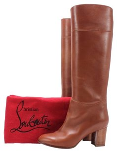 Christian Louboutin Leather Brown Boots