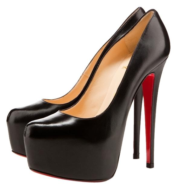 christian louboutin daffodile black pumps