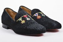 Mens Christian Louboutin Black Pony Hair Dictateur Flat Shoes