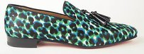 Christian Louboutin Pony Hair Multicolor Leopard Print Loafer Eu42 Us9