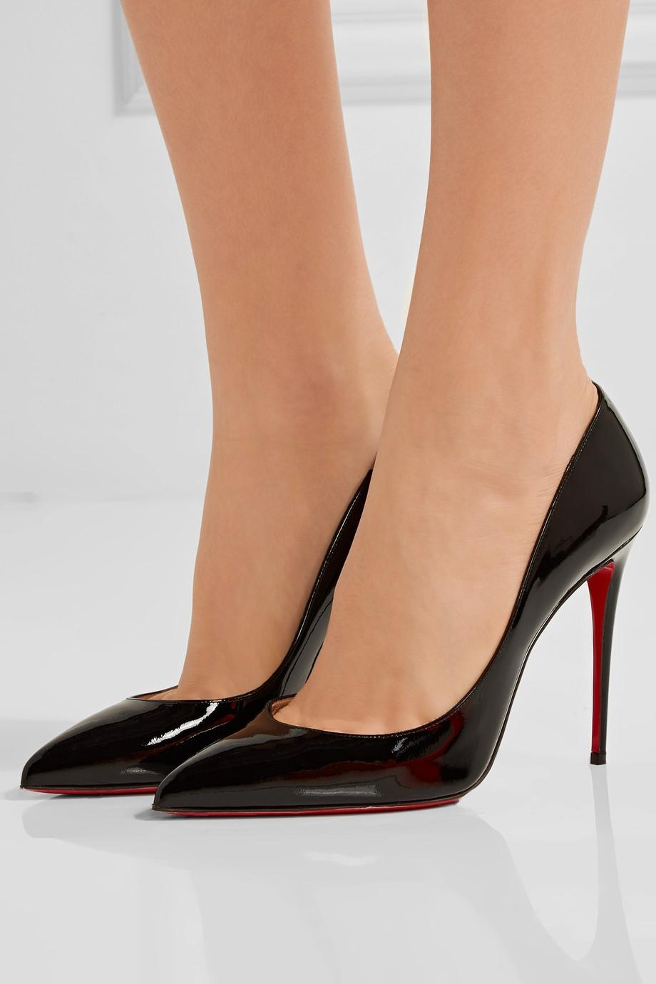 christian louboutin pigalle patent 100mm black