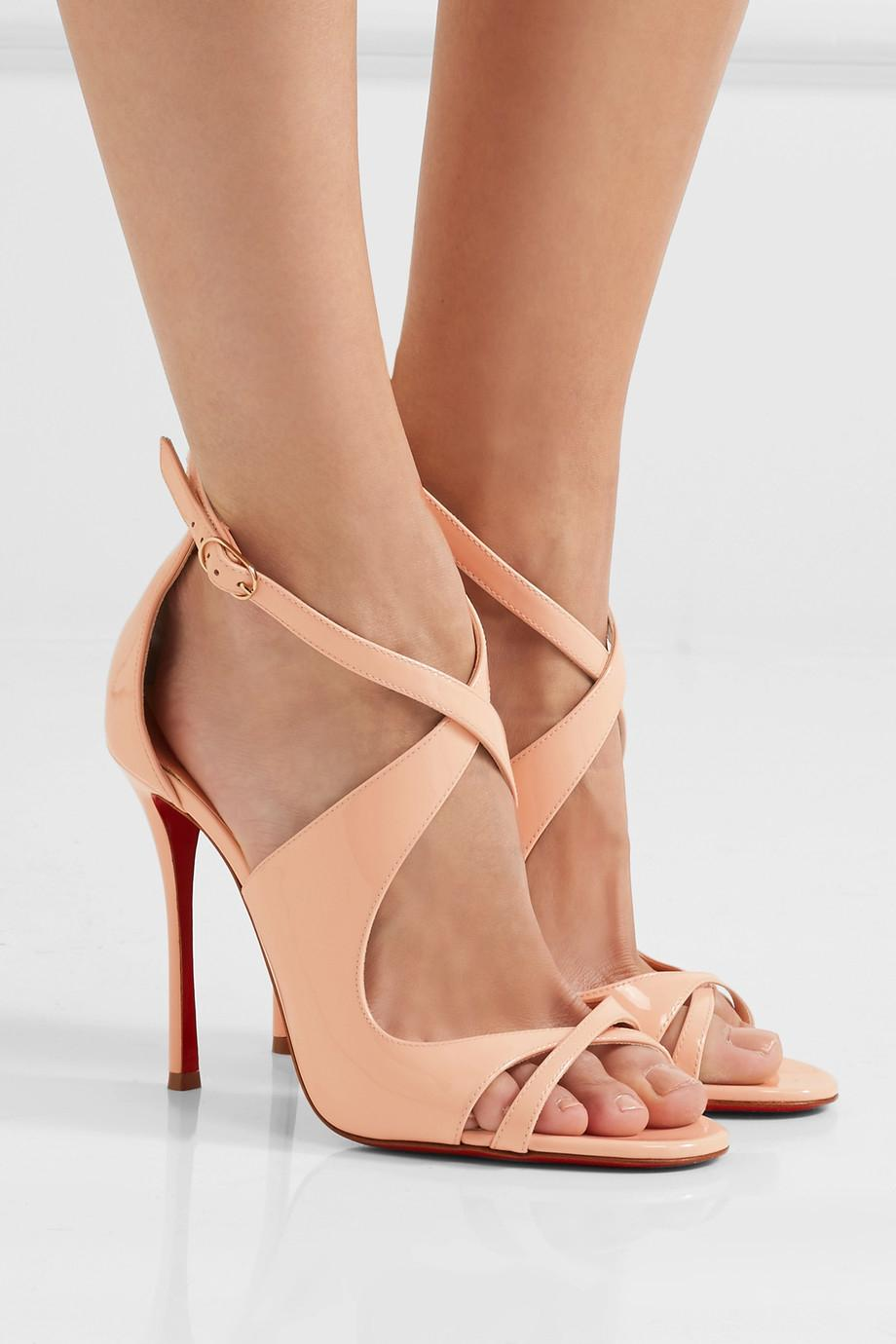 christian louboutin gold criss cross