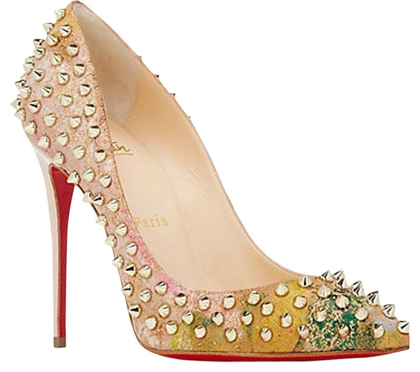 Christian Louboutin Multi Color Pigalle Follies Blooming Spike 100 Pumps Size US 7 Regular (M, B)