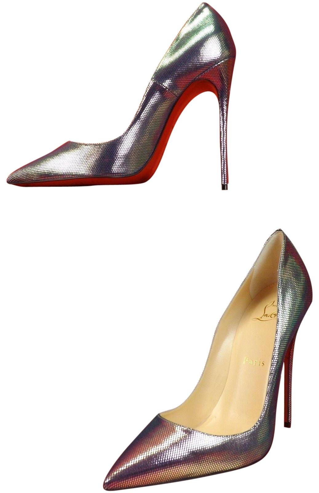 2bed1d49f0f9 Christian Louboutin Multi Color Digitale So Kate 120 120 120 Silver Tissu  Scarabe Leather Classic Pumps Size EU 39 (Approx. US 9) Regular (M