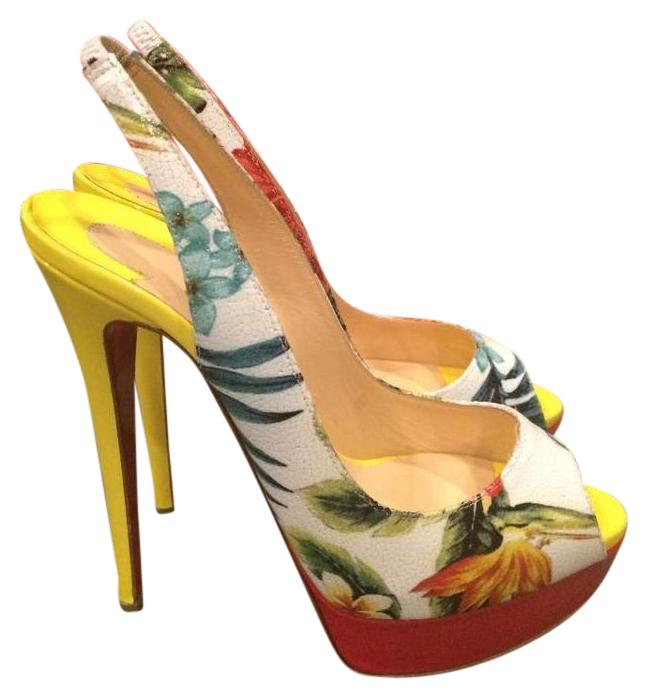 louboutin platforms Multicolore