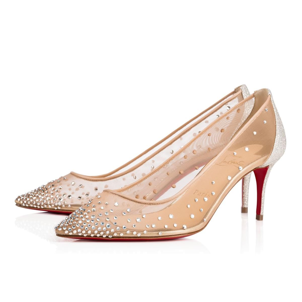 cfc321a69779 official tan christian louboutin flats shoes 84bac b6723  where can i buy christian  louboutin glitter sparkle neutral mesh with crystals pumps a7389 d47b6