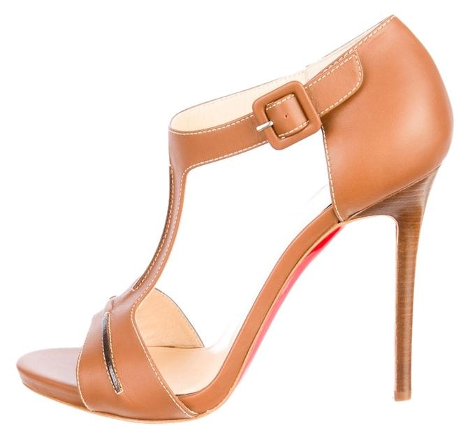 Christian Louboutin Never Worn Tan Sandals Size US Regular 8 Regular US (M, B) 138bbf